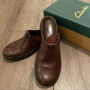 New Clark leather mules